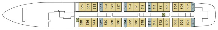 Windstar Cruises Wind Surf deck plans - Deck 3