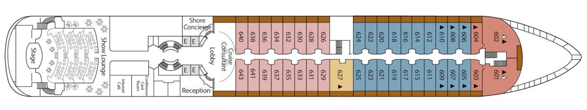 Silver Cloud deck plans - Deck 6