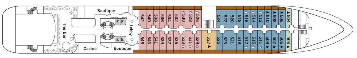 Silver Cloud deck plans - Deck 5