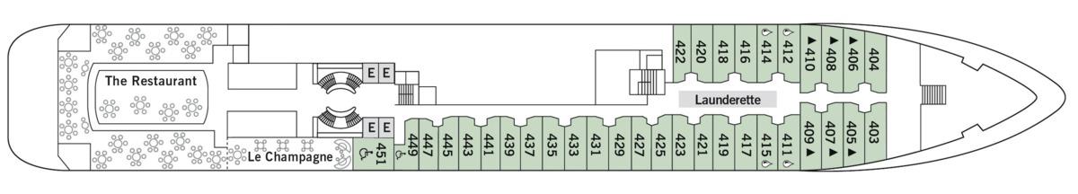 Silver Cloud deck plans - Deck 4