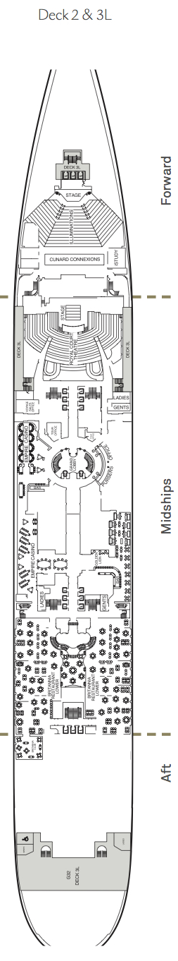 Queen Mary 2 deck plans - Deck 2