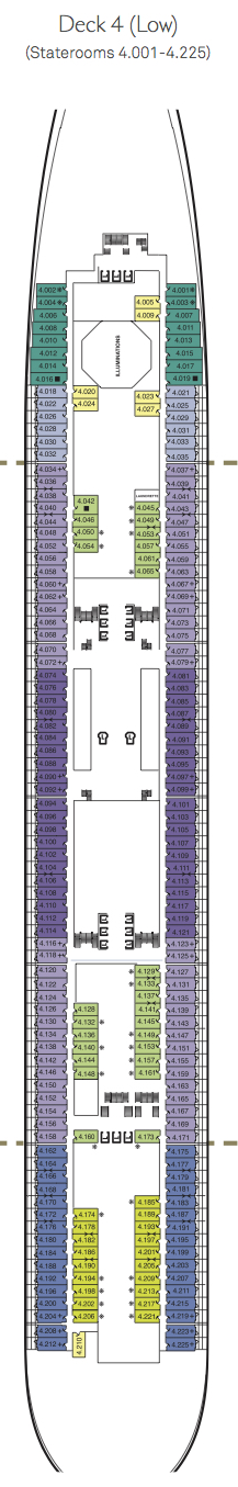 Queen Mary 2 deck plans - Deck 4