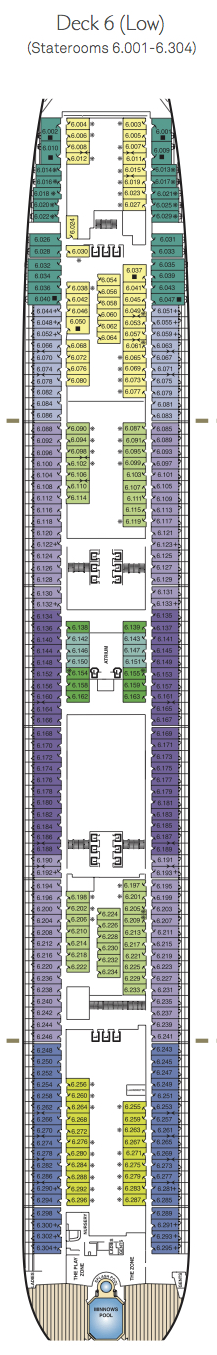 Queen Mary 2 deck plans - Deck 6