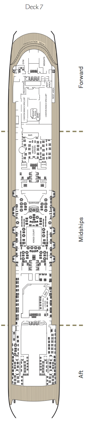Queen Mary 2 deck plans - Deck 7