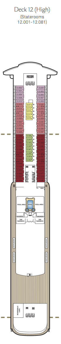 Queen Mary 2 deck plans - Deck 12