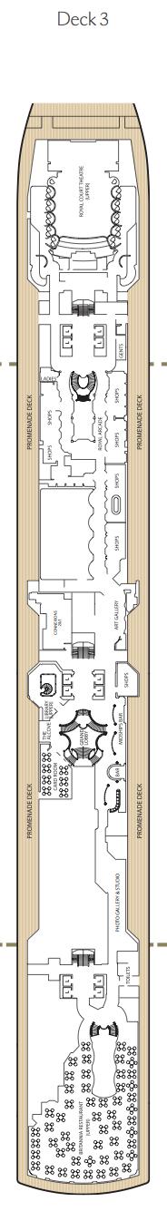 Queen Elizabeth deck plans - Deck 3