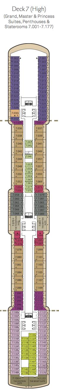Queen Elizabeth deck plans - Deck 7