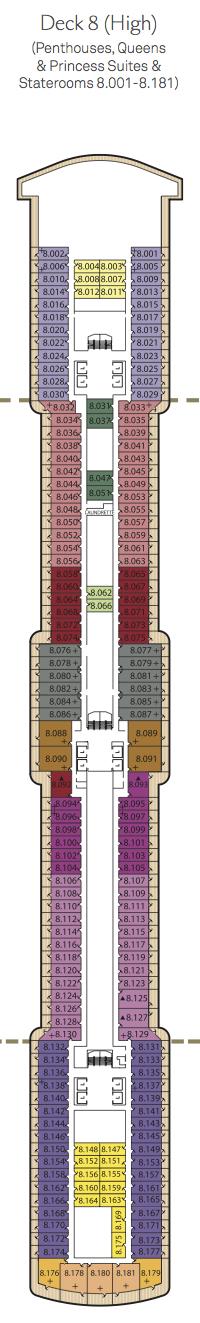 Queen Elizabeth deck plans - Deck 8