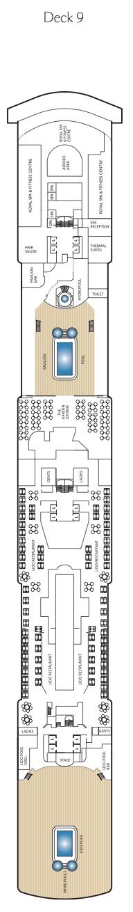 Queen Elizabeth deck plans - Deck 9