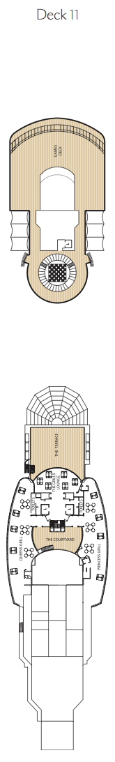 Queen Elizabeth deck plans - Deck 11