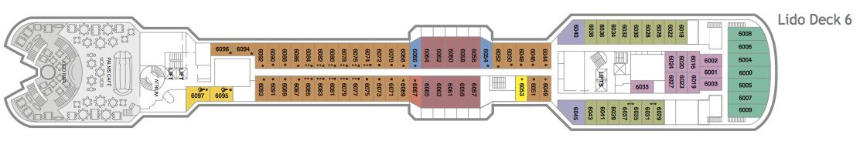 Fred. Olsen - Braemar deck plans: Lido Deck 6