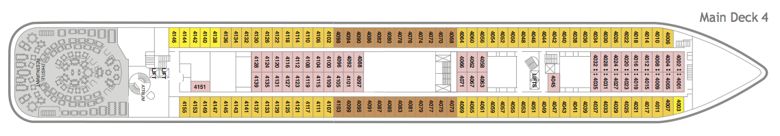 Fred. Olsen - Braemar deck plans: Main Deck 4