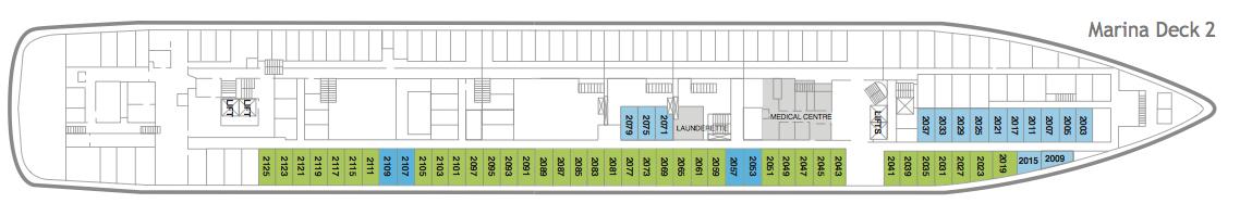 Fred. Olsen - Braemar deck plans: Marina Deck 2