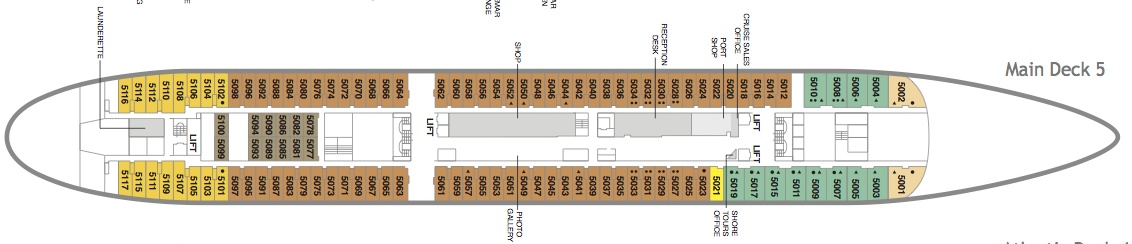 Fred. Olsen - Black Watch deck plans: Main Deck 5