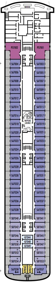 Holland America Line - MS Amsterdam deck plans - Deck 7 (Navigation Deck)