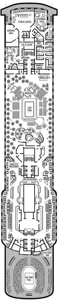 Holland America Line - MS Amsterdam deck plans - Deck 8 (Lido Deck)