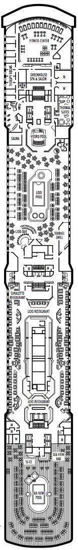 Holland America Line - MS Eurodam deck plans - Lido Deck
