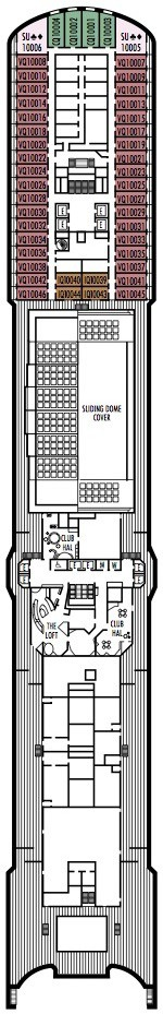 Holland America Line - MS Eurodam deck plans - Panorama Deck
