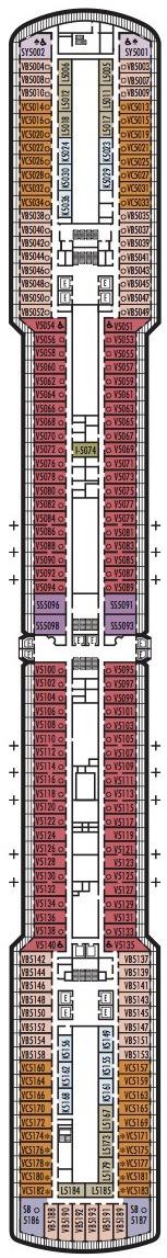 Holland America Line - MS Nieuw Amsterdam deck plans - Deck 5