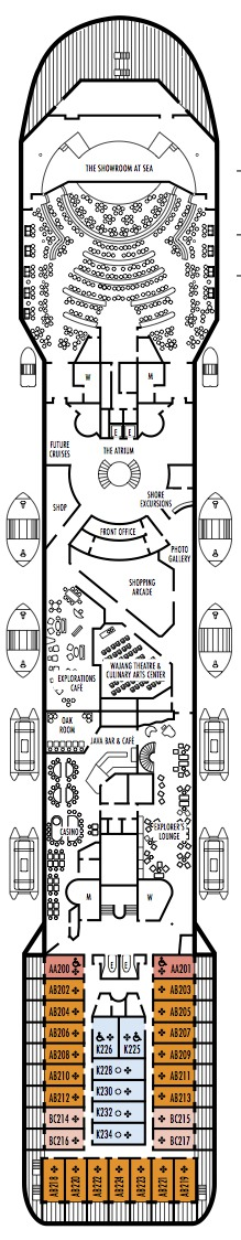 Holland America Line - MS Prinsendam deck plans - Deck 8 (Promenade Deck)