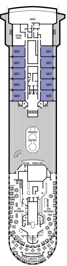 Holland America Line - MS Prinsendam deck plans - Deck 11 (Lido Deck)