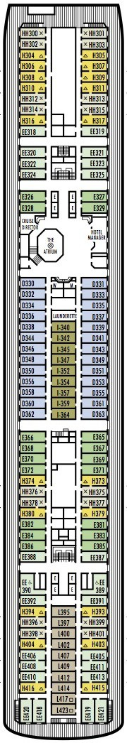 Holland America Line - MS Veendam deck plans - Deck 6 (Lower Promenade Deck)