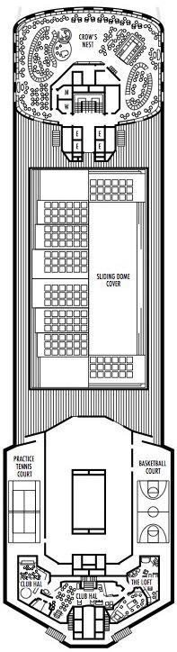 Holland America Line - MS Veendam deck plans - Deck 12 (Sports Deck)