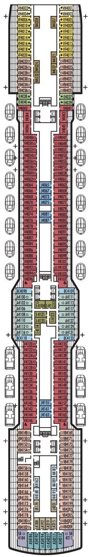 Holland America Line - MS Koningsdam deck plans - Deck 4