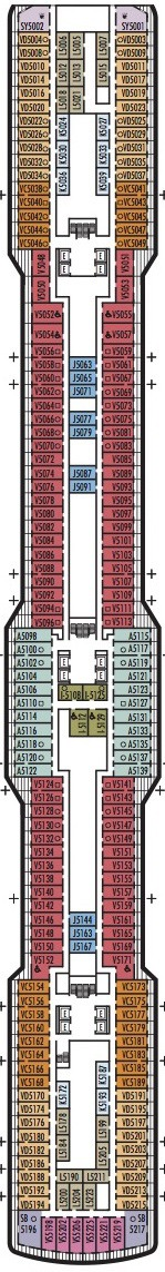 Holland America Line - MS Koningsdam deck plans - Deck 5
