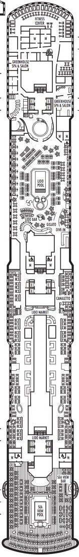 Holland America Line - MS Koningsdam deck plans - Deck 9