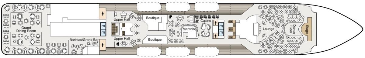Oceania Cruises Regatta Class deck plans - Deck 5