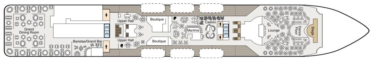 Oceania Cruises Regatta Class deck plans - Deck 6