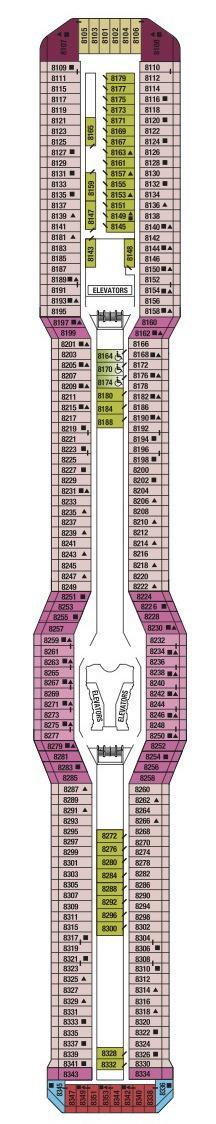 Celebrity Cruises Solstice Class deck plans - Deck 8