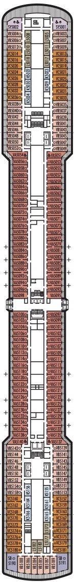 Holland America Line - MS Noordam & Zuiderdam deck plans - Deck 5