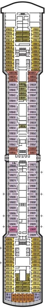 Holland America Line - MS Noordam & Zuiderdam deck plans - Deck 8