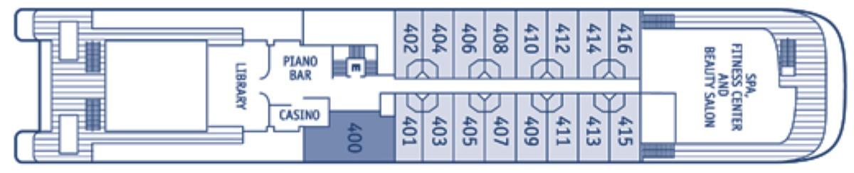 SeaDream Yacht Club deck plans - Deck 4