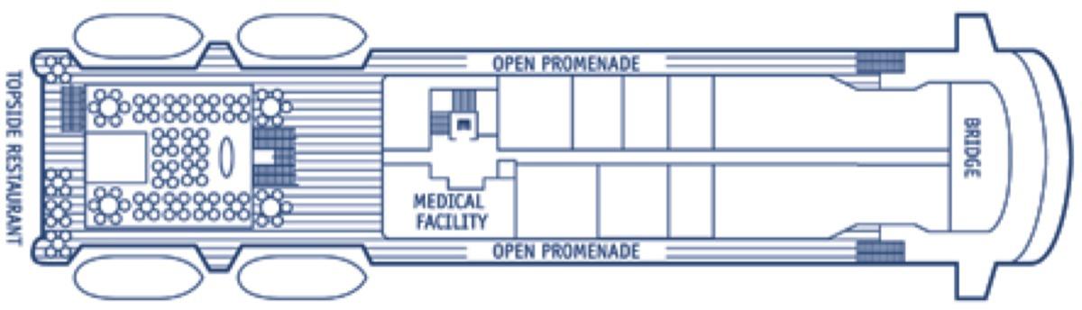 SeaDream Yacht Club deck plans - Deck 5