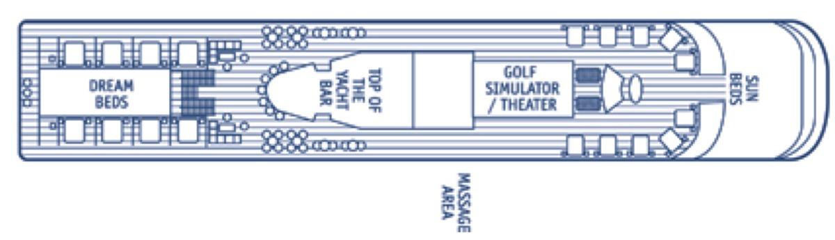 SeaDream Yacht Club deck plans - Deck 6