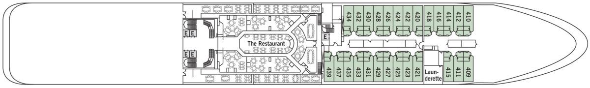Silversea - Silver Shadow & Whisper deck plans - Deck 4