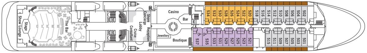 Silversea - Silver Shadow & Whisper deck plans - Deck 5