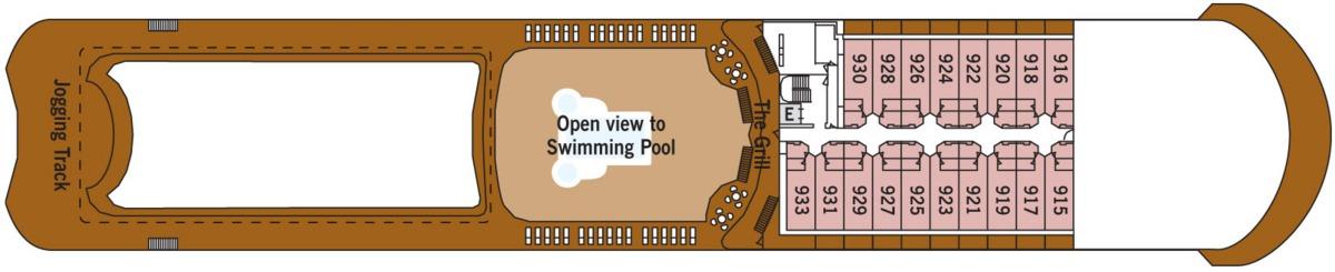 Silversea - Silver Shadow & Whisper deck plans - Deck 9