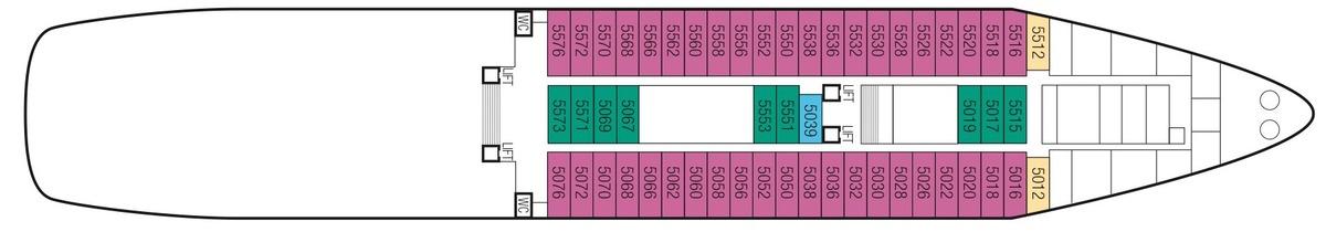 Saga Sapphire deck plans - Deck 5