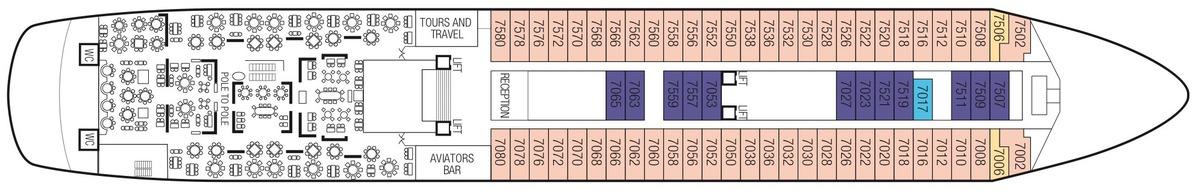 Saga Sapphire deck plans - Deck 7