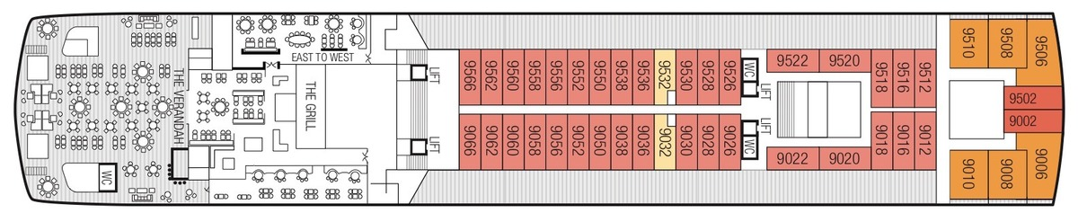 Saga Sapphire deck plans - Deck 9