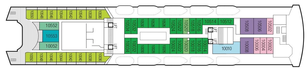 Saga Sapphire deck plans - Deck 10