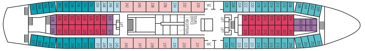 Saga Pearl II deck plans - A Deck