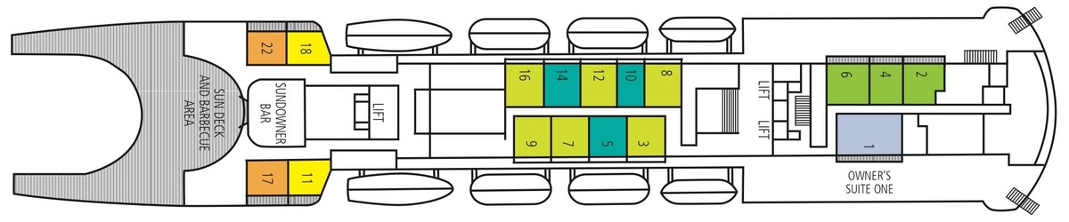 Saga Pearl II deck plans - Bridge Deck