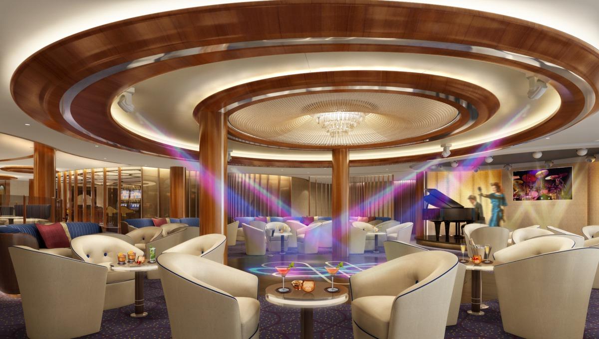Seabourn Encore Club Lounge rendering