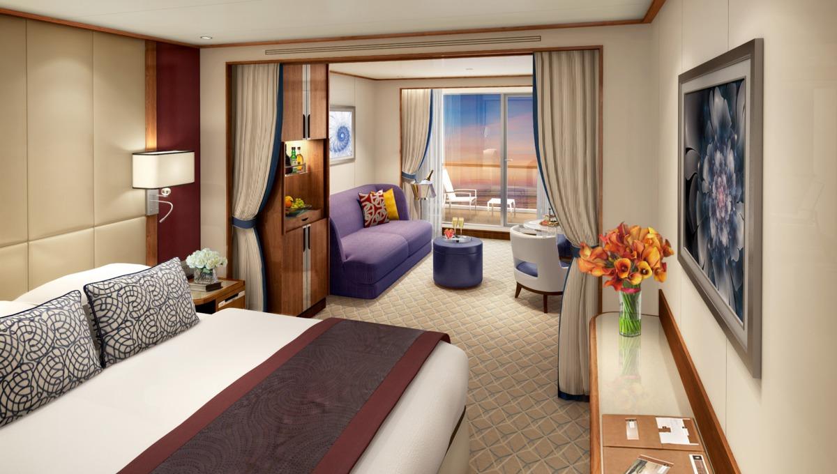 Seabourn Encore Veranda Suite rendering