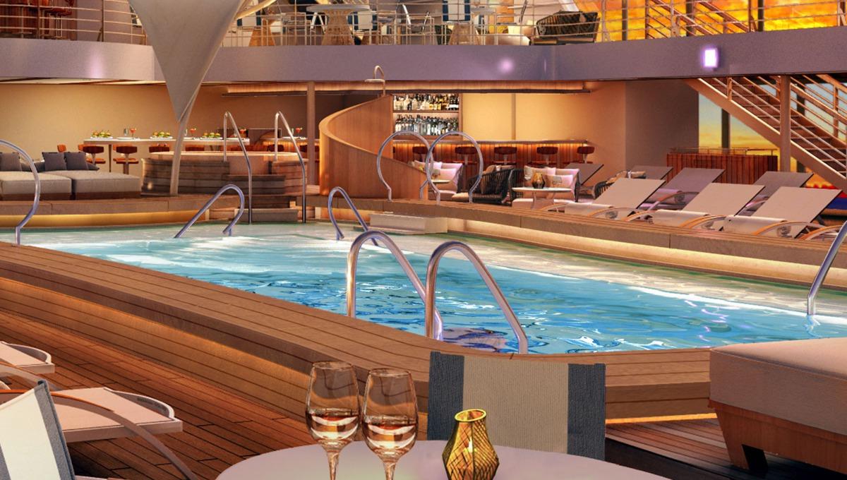 Seabourn Encore main pool rendering